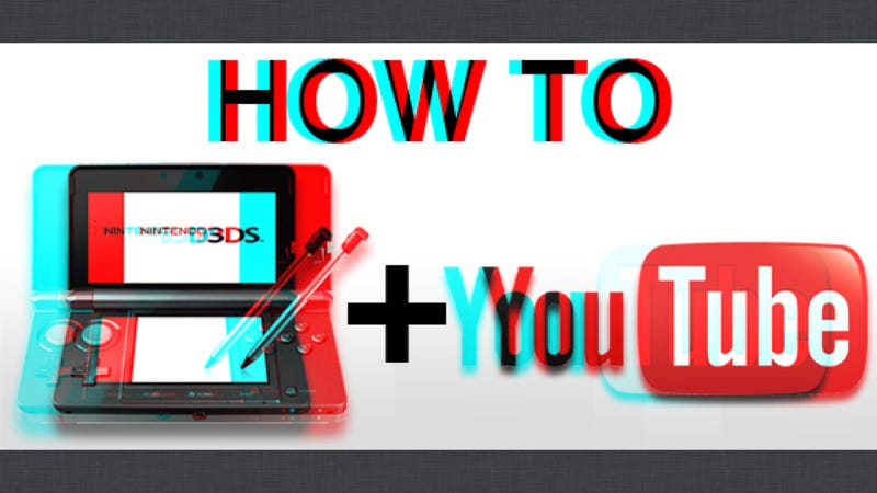 Illustration for article titled Here's How to Get Your 3D Videos Off Your 3DS and Onto YouTube
