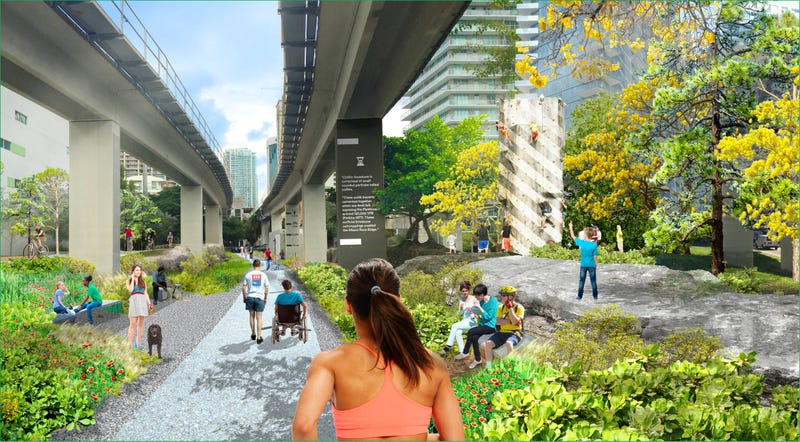 Illustration for article titled These Parks Are Reclaiming Ugly Urban Underpasses as Public Space
