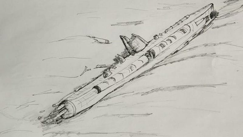 Sketch of the sub in its current position (Image: Tomas Termote)