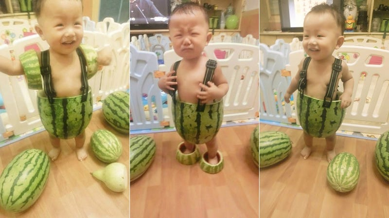 Illustration for article titled These Are China's Watermelon Kids