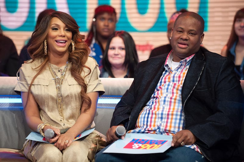 Tamar Braxton and husband Vincent Herbert in New York in February 2013 (D Dipasupil/Getty Images for BET)