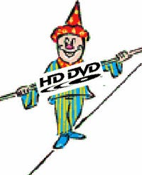 Illustration for article titled HD DVD Walking Tightrope But Still Moving Forward
