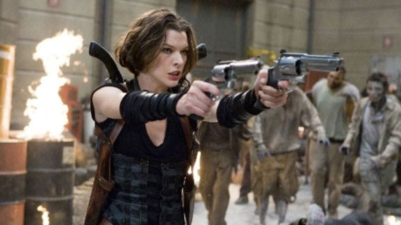 Illustration for article titled Zombies injured on Resident Evil set, possibly upsetting Milla Jovovich