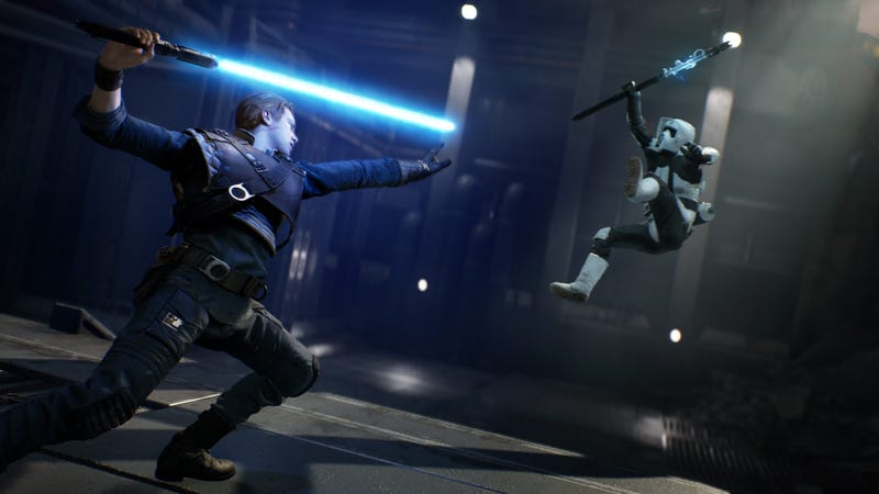 Illustration for article titled Here's Our First Look At Star Wars: Jedi Fallen Order Gameplay