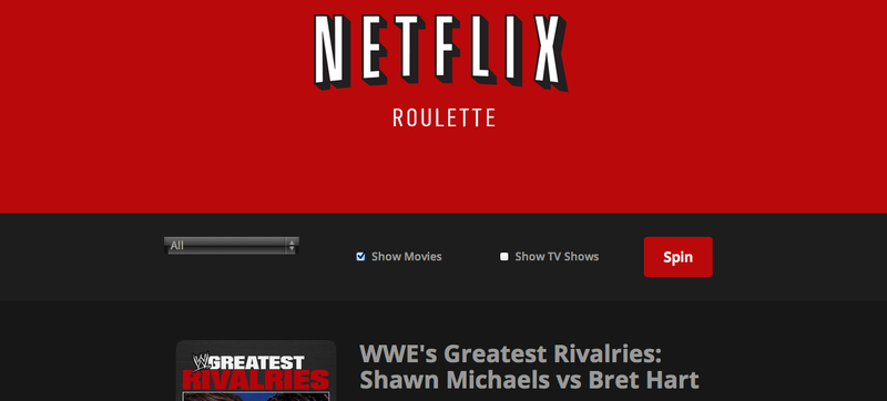 Netflix Roulette Will Cure Your Utter Inability to Pick a Movie