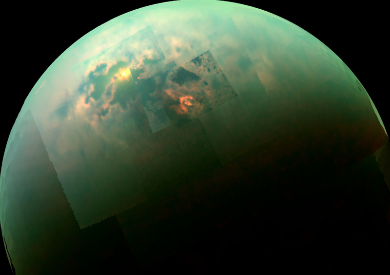 Illustration for article titled A Stunning View Of Sunlit Seas On Titan