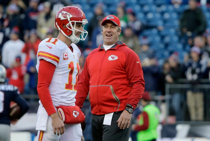 Illustration for article titled New Eagles Coach Doug Pederson Immediately Grilled About Chiefs' Lethargic Offense In Playoffs