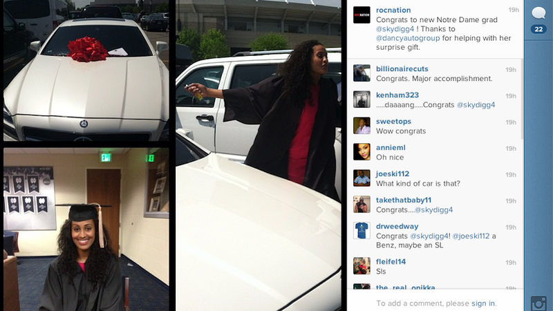 Illustration for article titled Skylar Diggins Got A Mercedes From Jay-Z's Sports Agency