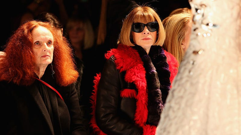 Grace Coddington (left) and you know who on the right / Image via Getty
