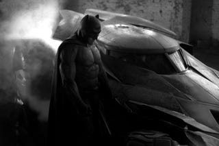 Illustration for article titled Here Is The First Image Of Ben Affleck As Batman