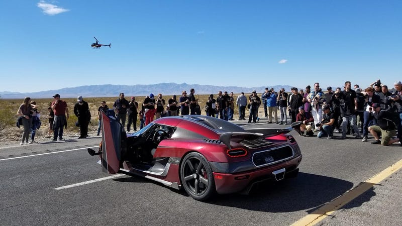Koenigsegg Agera RS Nevada High Speed Run 0-400-0