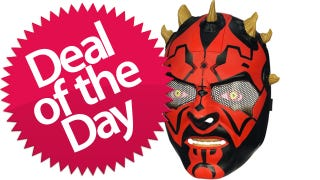 Illustration for article titled This Darth Maul Electric Mask Is Your Weapon-Forged-By-The-Dark-Side Deal of the Day