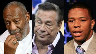 Bill Cosby; Donald Sterling; Ray RiceEthan Miller/Getty Images; ROBYN BECK/AFP/Getty Images; Rob Carr/Getty Images