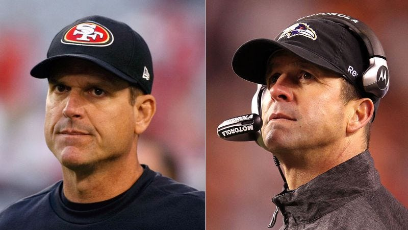 Illustration for article titled Super Bowl Blood Test Reveals Jim, John Harbaugh Have Different Fathers