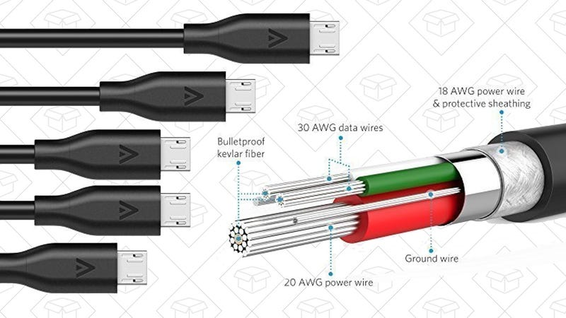 Anker PowerLine MicroUSB Cable 5-Pack, $11
