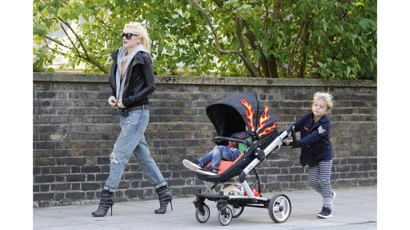 Illustration for article titled Gwen Stefani & Sons Are Wheels On Fire, Rolling Down The Road