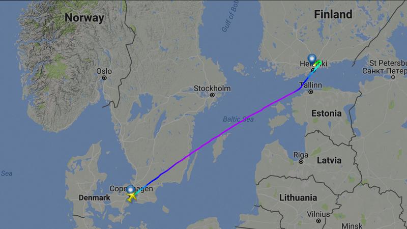 Image: screenshot/flightradar24