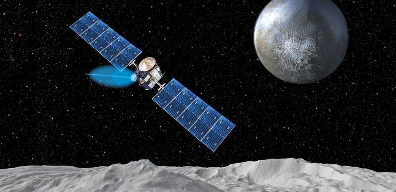 Illustration for article titled Así funciona el motor iónico que nos ha llevado al planeta enano Ceres