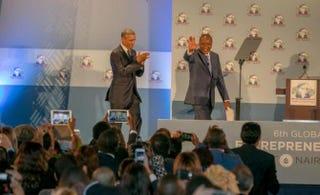 President Barack Obama and Kenyan President Uhuru KenyattaTwitter/@UKenyatta