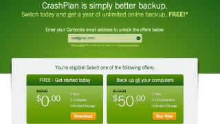 Illustration for article titled Grab a Free Year of Unlimited Backup from CrashPlan