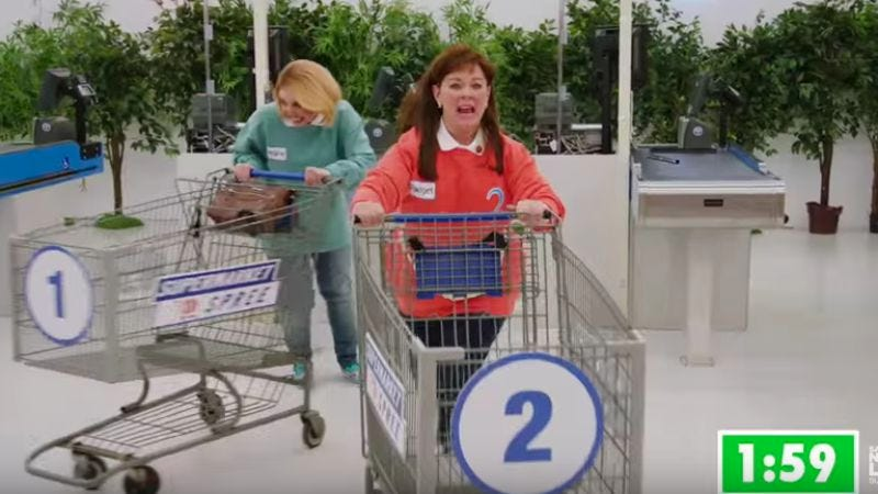 Illustration for article titled Melissa McCarthy goes ape on Supermarket Sweep in this unaired SNL sketch