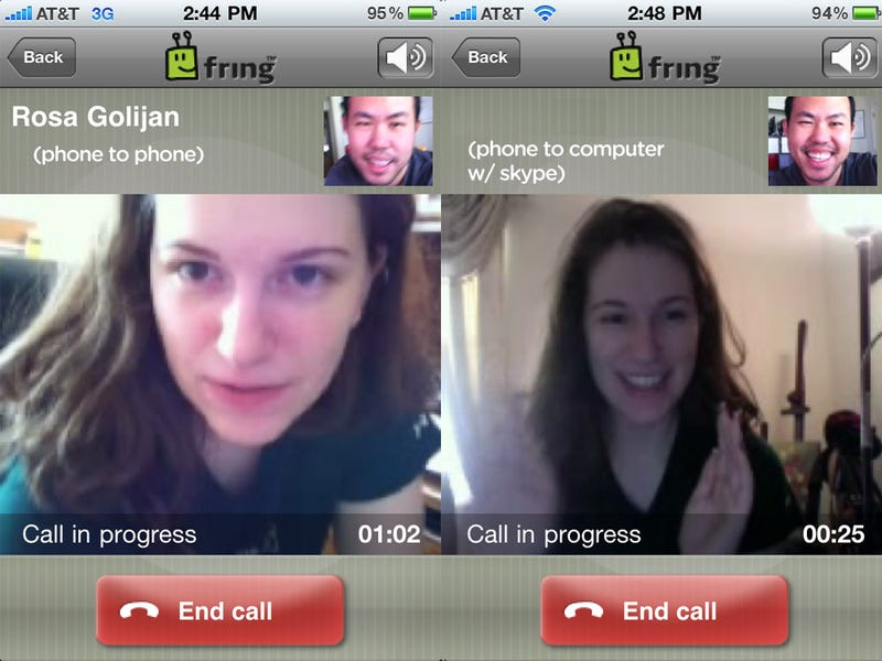 Illustration for article titled Fring iPhone App Supports Video Calls Over 3G to Any Fring or Skype User