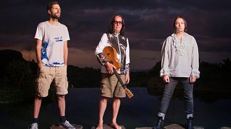 Rundgren, center, with the rest of the Runddans crew