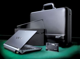 Illustration for article titled Sony Starts Auction Royale For Bond-Themed VAIO TT