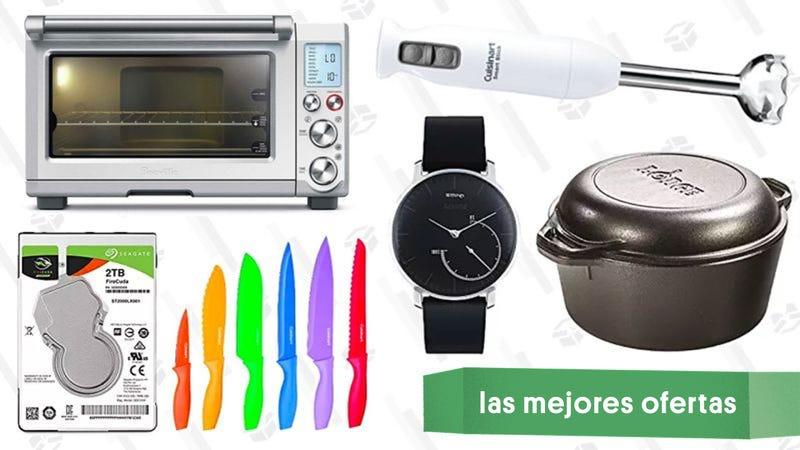 Illustration for article titled Las mejores ofertas de este jueves: Reloj inteligente, olla de acero, hornillo inteligente Breville y mucho más