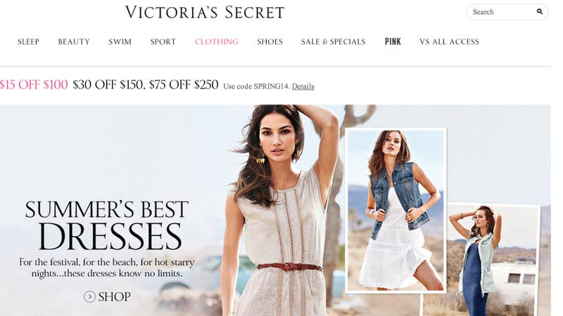 Illustration for article titled Victoria's Secret Abandons All Pretense, Stops Selling Actual Clothes