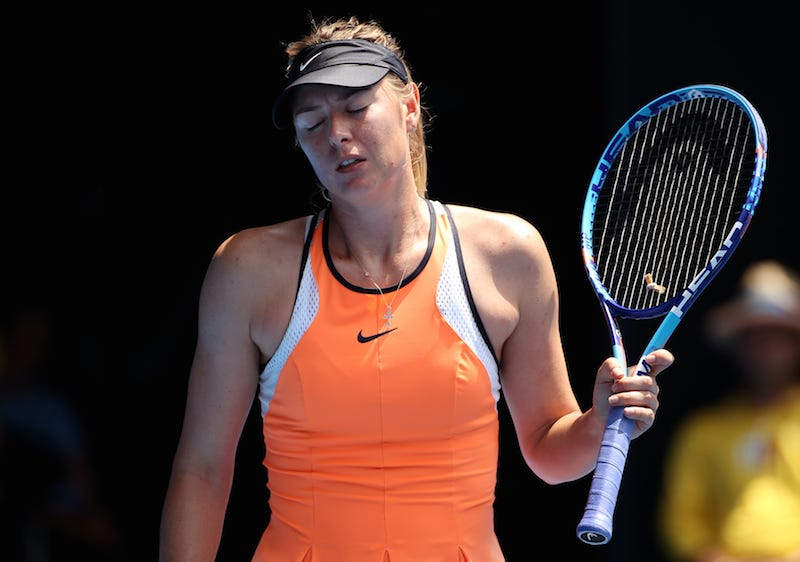Illustration for article titled Maria Sharapova Fails Drug Test At Australian Open