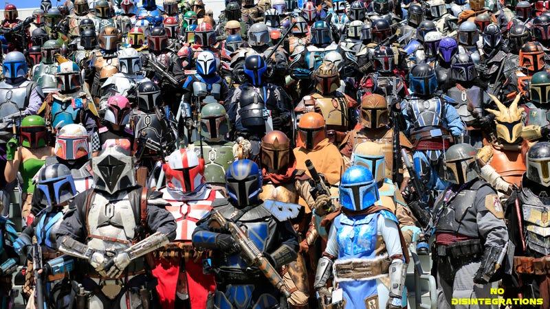 Illustration for article titled So Many Mandalorian Mercs At Star Wars Celebration 2015