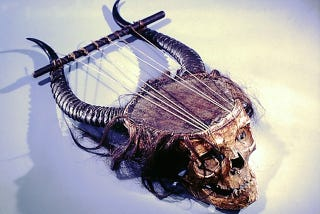 Illustration for article titled And Now, A Lyre Made From A Human Skull
