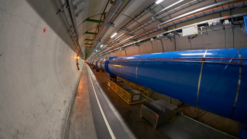 The LHC inside its tunnel