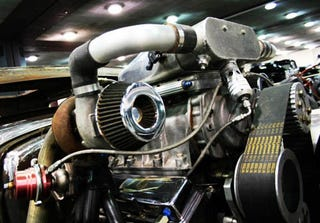 Illustration for article titled How To Awesome-Rig A Twin-Turbo Supercharger Setup