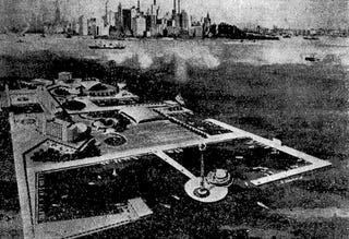 Illustration for article titled The 1958 Plan to Turn Ellis Island Into a Vacation Resort