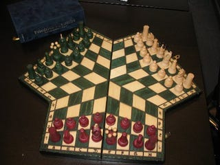 An exciting 3 way game of chess Where can i buy a chess game