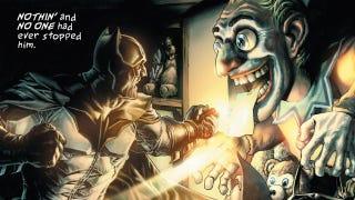 Illustration for article titled The Dark Knight plays Ebenezer Scrooge in Lee Bermejo's Batman: Noel
