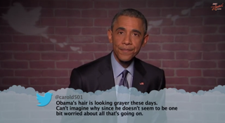 President Barack Obama appearing on ABC's Jimmy Kimmel Livelate night March 12, 2015YouTube Screenshot