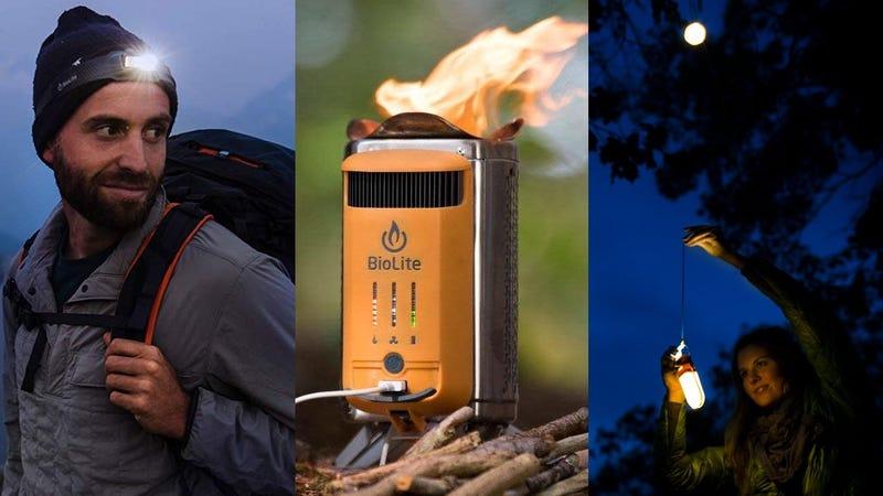 BioLite CampStove 2 | $100 | AmazonBioLite CampStove 2 Bundle | $160 | AmazonBioLite HeadLamp 330 + StuffSack | $50 | Amazon | Add both to cartBioLite Sunlight Solar Powered Lantern | $20 | AmazonBioLite PowerLight and SiteLight Bundle | $60 | AmazonBioLite SolarPanel 5+ with Integrated Power Bank | $60 | Amazon