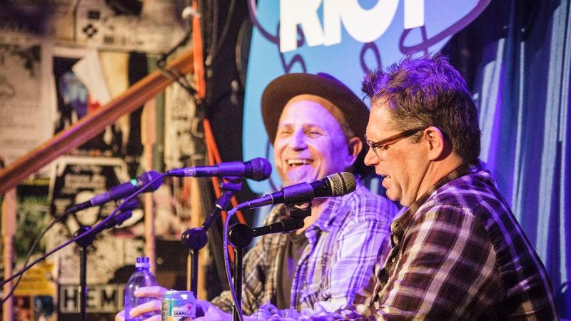 Dana Gould and Bobcat Goldthwait at last year's festival. (Photo: Callie Biggerstaff)