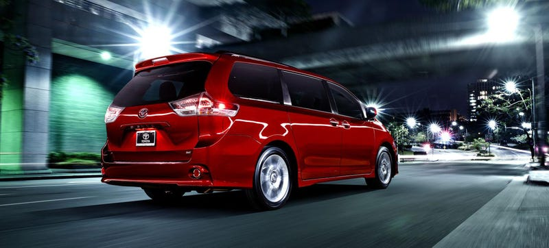 Illustration for article titled The Toyota Sienna Helps You Scream At Your Horrible Kids