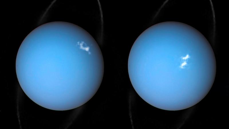 Two pictures of Uranus.