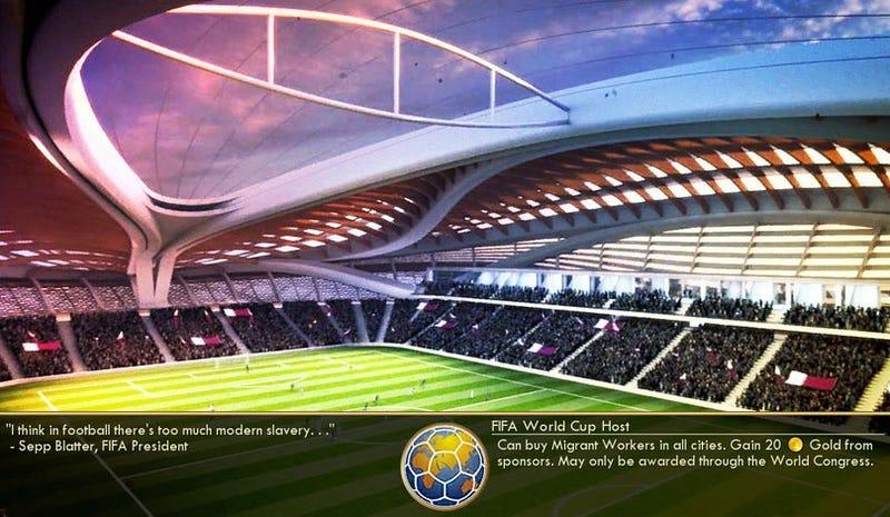 Illustration for article titled Civilization V Mod Kicks Corrupt FIFA In The Nuts