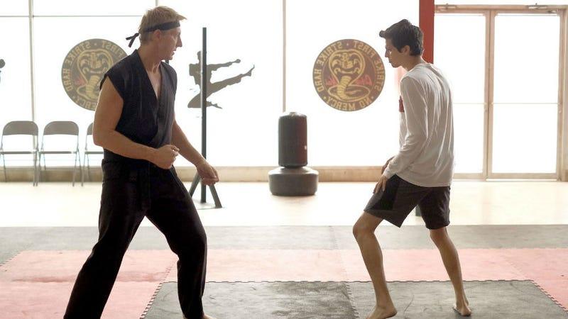 Johnny Lawrence (Billy Zabka) is the new Miyagi and Miguel (Xolo Mariduena) is the new Daniel on YouTube Red's Cobra Kai.