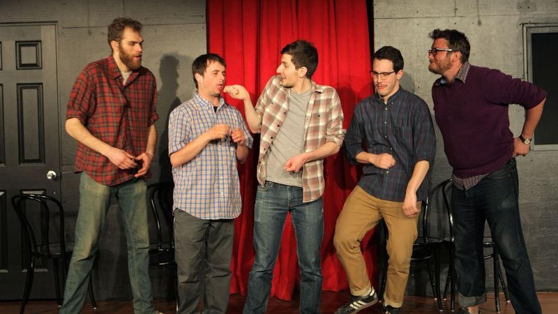 Illustration for article titled Is America Ready For An All-Male Improv Troupe?