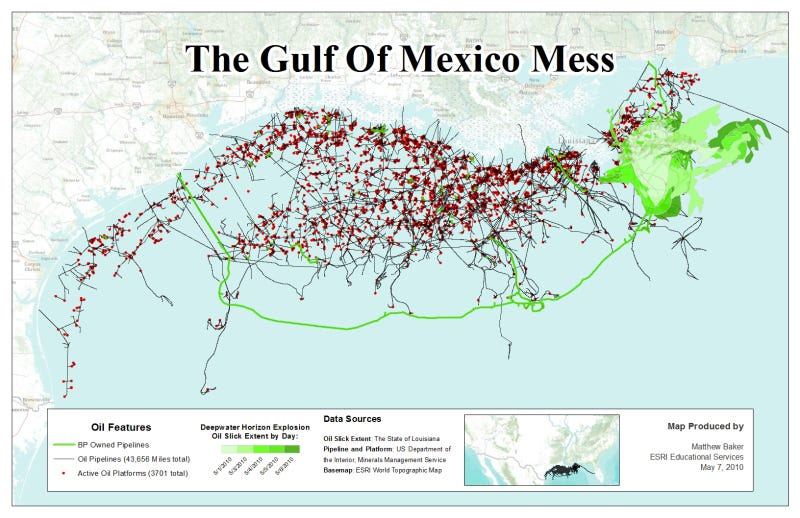 Oil Rigs In Gulf Of Mexico Map.Your Oil Spill Is Still Growing America