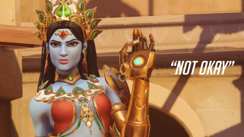 Illustration for article titled Hindu Leader Wants Blizzard To Drop Symmetra's Devi Skin From Overwatch