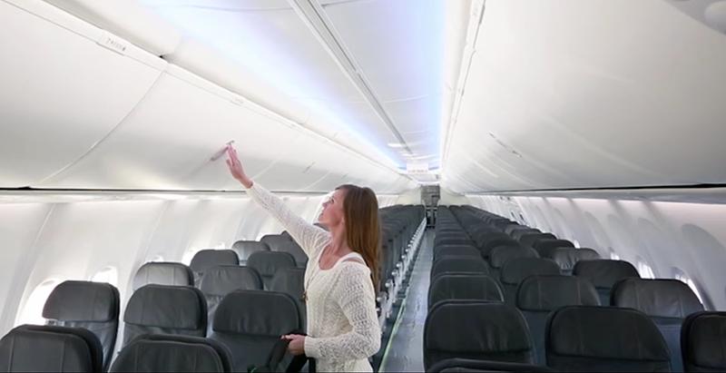Illustration for article titled Cómo te manipulan los fabricantes de aviones para hacerte creer que tienes más espacio en cabina