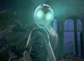 Shane Ackers Animated Movie 9 Already Impressed Us With Its Blend Of Action And Gothy Postapocalyptic Ragdoll Imagery But A New Clip Underscores How Scary